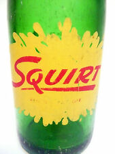 vintage ACL Soda POP Bottle:  green SQUIRT of PITTSBURGH, PA   - 7 oz ACL