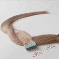 100% Remy Human Hair Seamless Tape in Hair Extensions #18(Light Ash Brown)