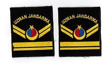 Polizei Türkei Jandarma  -- 2 --  Ärmelabzeichen  ---  grün  --