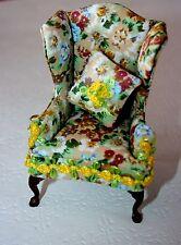 Dollhouse miniature Queen Anne Arm Chair