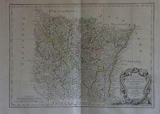 1771 Map Lorraine Alsace Metz Nancy Bar-le-Duc Epinal Strasbourg Colmar Bonne
