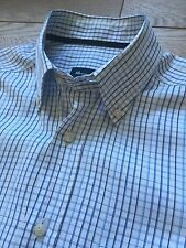 GORGEOUS MASSIMO DUTTI BLUE GINGHAM BUTTON DOWN COLLAR WEEKEND SHIRT M MEDIUM