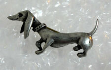 ZP133a Dachshund Pewter pin badge brooch Sausage dog Unusual