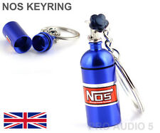 BLUE NOS NITROUS OXIDE  KEYRING KEY CHAIN STASH BOX - HIGH QUALITY UK POST