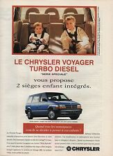 Publicité Advertising 1994 le chrysler voyager turbo diesel