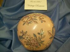 Vase Pink & Blue Flowers & Petals with Gold Trim Made in Macau - Just Beautiful!