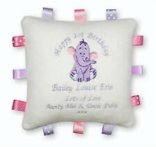 PERSONALISED Taggy Cushion  Winnie the Pooh, Eeyore, Tigger  BOY/GIRL  Baby Gift