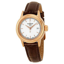 Tissot Carson White Dial Brown Leather Ladies Watch T0852103601100