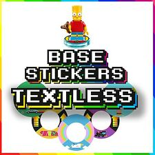 Lego Dimensions Base/Tags Stickers - TEXTLESS VERSION - 48 UNIQUE DESIGNS