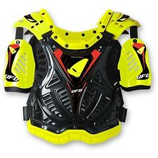 UFO Shield Protector Adult Body Amrour MX Motocross Enduro Roost Tabard Yellow