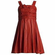 NWT BURBERRY Kids RED BRICK STRAP SHIMMER DRESS 9 - 10 SZ 10Y GIRLS