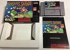 Yoshi's Safari (Super Nintendo SNES, 1993) Complete in Box CIB