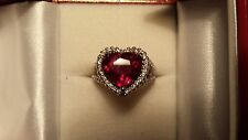 Woman's Fine Ring Big Blood Red Total 8.38Ct Ruby, Diamonds For Anniversary,14KT