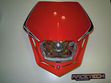 Mascherina faro anteriore Racetech Headlight V-face ROSSO Honda enduro motard