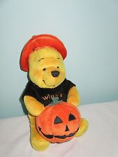 Halloween Winnie the Pooh with Pumpkin Soft Plush Bean Toy. Disney. 8 Inches