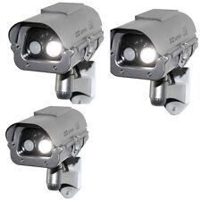 3X New Solar Power Fake Dummy Security CCTV Camera Cam Flashing Led/Human Sensor