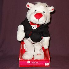 "Plush Dancing Bear Plays ""Cant Get Enough Of You Baby"" White Suit 12"" Valentine"