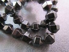 Hematite Faceted Barrel Beads 48pcs