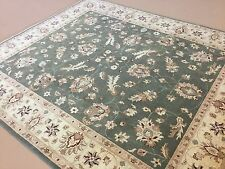 8.3 X 9.7 Green Gold Ziegler Persian Oriental Area Rug Hand Knotted Wool Allover