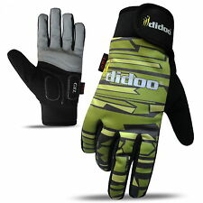 Mens Full Finger Gel Padded Camo Style Wind Resistance Waterproof Cycling Gloves