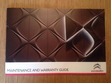 GENUINE CITROEN DS SERVICE HISTORY AND MAINTENANCE RECORD BOOK NEW DS GENUINE