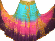 "Shaded Tribal gypsy 25 yards yard belly dance dancing cotton skirt L36"" ATS"