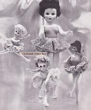"TUTU for BARBIE & 8"" to 19""  dolls - COPY doll crochet pattern"
