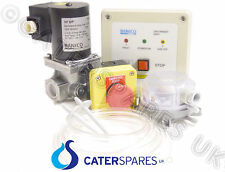 """COMMERCIAL GAS KITCHEN INTERLOCK SYSTEM DEAL KIT WITH 2"""" GAS SOLENOID VALVE 54mm"""