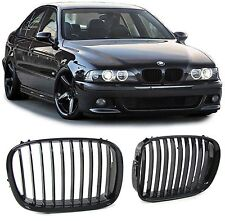 GLOSS BLACK BONNET KIDNEY GRILL GRILLS FOR BMW E39 5 SERIES SALOON TOURING TYP2