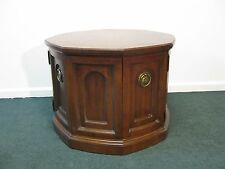 Heritage Grand Tour Hexagon End Table With Doors to Storage With Shelf AS IS
