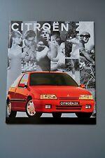 Citroen zx brochure 1992 essence 1.4 1.8 2.0 & diesel turbo/1.9D