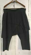 Earth Creations Sporty Pant Organic Cotton Lycra Black Legging Skort Size L