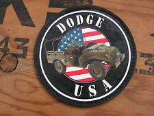 """SNAKE PATCH """" DODGE USA """" WC normandie COLLECTION US WW2 commémoration"""