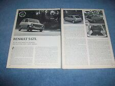 1977 Renault 5 GTL Vintage Road Test Info Article