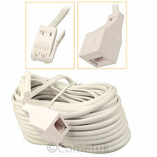 15 Meter RJ11 UK Male To UK Female BT Extention Cable For Telephone Fax Modem PC