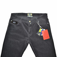 LA MARTINA Buenos Aires Jeans Velours Gris Stretch 36 Grey Corduroy Cords Pants