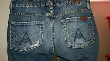 Womens Seven 7 for All Mankind Jeans A Pocket Boot Low Size 26 Actual 28X33
