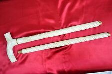 HAND CASTED ANTIQUE REPRODUCTION  CAMEL BONE  CANE WALKING STICK FOLDABLE