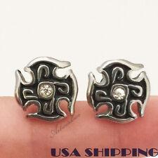 1 pair Rock Punk cross Mens Stainless Steel Earring Stud