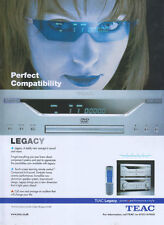 TEAC Legacy AG-L800 Sound & Vision 2003 Magazine Advert #3320