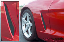CORVETTE C6 SIDE VENT SCREENS GRILLE 2005-2013 BLACK POWDER COATED FINISH