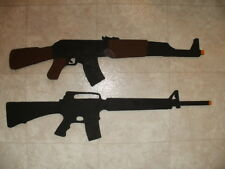 AK-47 Assault Rifle OR M16A2 Assault Rifle Replica Toy (Wood Gun)