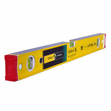 "STABILA 96-2-60 2FT 24"" 600MM 3 VIAL LEVEL - SMOOTH FACE SPIRIT LEVEL 15229"