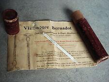 ANTICO VINOMETRO BERNADOT COMPLETO DI CUSTODIA ORIGINALE E ISTRUZIONI IN.'900