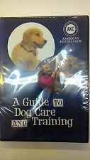 A GUIDE TO DOG CARE AND TRAINING (NEW, DVD)