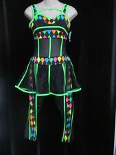 Neon Lights Glow Peplum Unitard Halloween Costume Jazz ASM