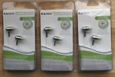 LOT Set of 3 A4TECH MK-650 Green iSecureFit Super Bass In-Ear Earbuds for iPod