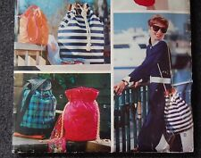 Vogue 410 Sewing Pattern drawstring bags tote purse pouch accessories VTG