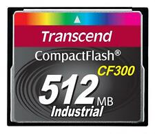 512MB Transcend CF 300X Speed SLC Industrial CompactFlash Memory Card