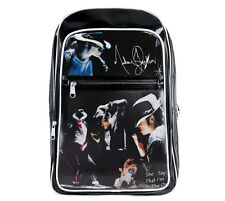 King Of POP Michael Jackson Fans Student Schoolbag Backpack Patent Leather